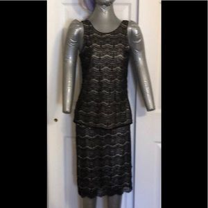 NWT Ann Taylor sequined lace skirt size 8